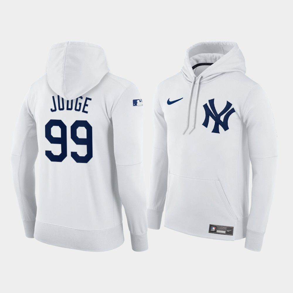 Cheap Men New York Yankees 99 Judge white home hoodie 2021 MLB Nike Jerseys